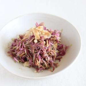 食用菊もってのほかと胡桃のお浸し。