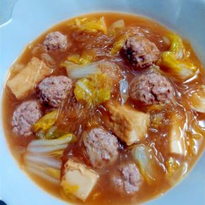 肉団子と白菜の中華風煮