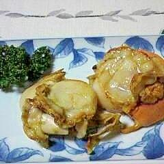 帆立のオリーブオイル焼き
