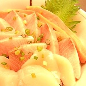 梅醤油で海鮮丼♪
