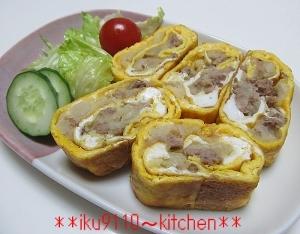 簡単♪ミートマッシュポテト巻き卵