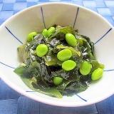 簡単常備菜♪わかめと枝豆のポン酢生姜和え