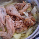 鶏肉と野菜の鍋料理