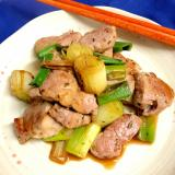 豚ヒレ肉と長ネギのシンプル炒め