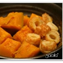 ちょっとアレンジ「 南瓜とちくわの煮物 」
