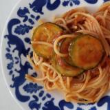 ズッキーニのミートスパゲッティ