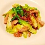 蕾菜と豚肉☆ガーリック炒め