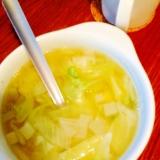 風邪に☆ブロッコリーとキャベツと玉ねぎの生姜スープ