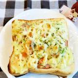 余ったポテトサラダを食パンに!ポテサラトースト