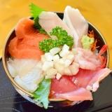 サッパリ!梨と大葉入り寿司飯で☆海鮮丼