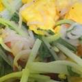 水菜・カニカマ・卵炒め