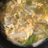 白菜のかき玉汁