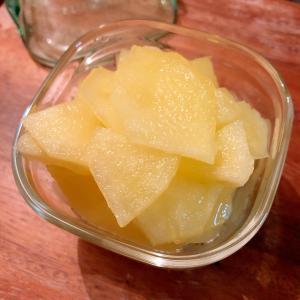 レモン汁なし リンゴのコンポート ♪