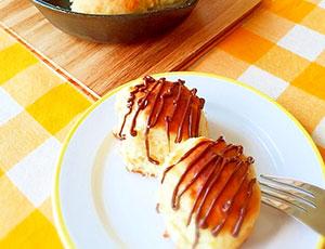ホットケーキmixで簡単♪チョコバナナちぎりパン風